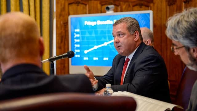 Yonkers Mayor Mike Spano spoke out against the alleged misappropriated funds by the city's fire union.