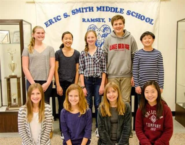 Nine students at Eric Smith Middle School in Ramsey were accepted to the 2015 Bergen County Middle School Band and Chorus.