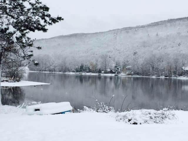 Snowy Pinecliff Lake, West Milford.