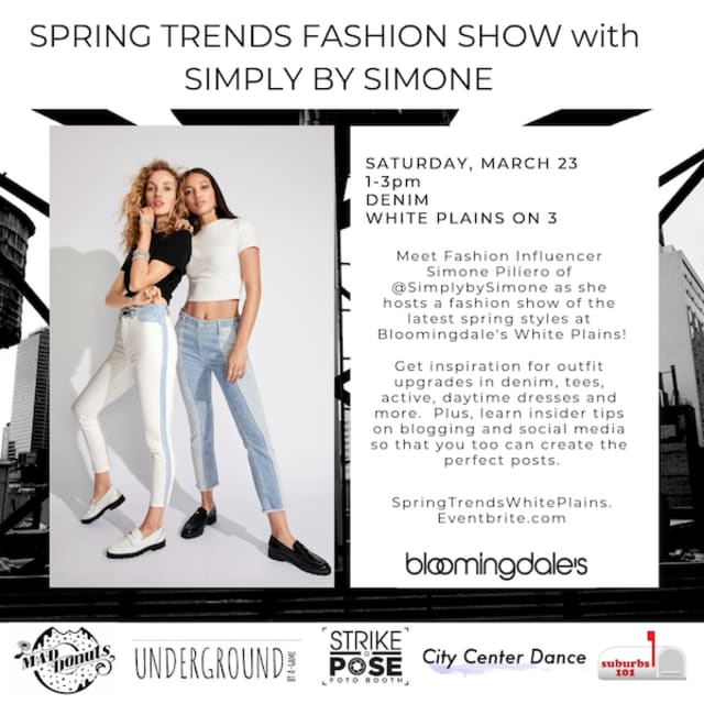 Spring into the Bloomingdale's White Plains fashion show Saturday, March 23.