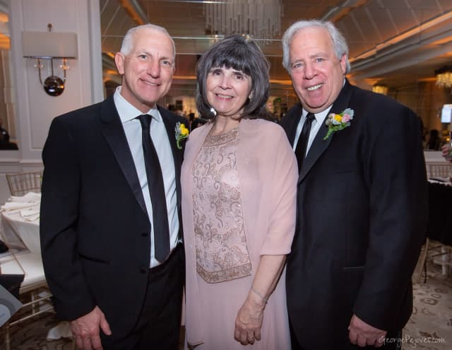 From left, Jeffrey S. Oppenheim, MD; Mary P. Leahy, MD, CEO of Bon Secours Charity Health System; and Joe Allen at Good Samaritan Hospital's 34th annual Spring Ball.