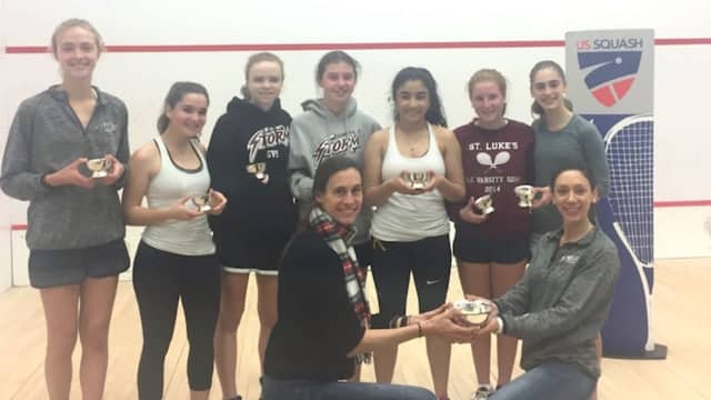 St. Luke's finished second in the nation in the recent girls squash national championships.