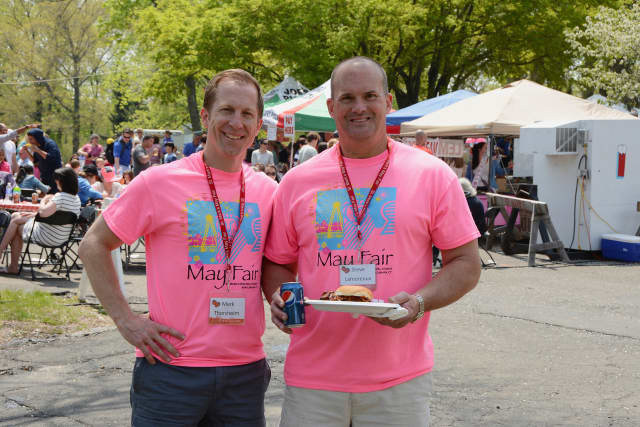 Co-chairs of May Fair, Mark Thorsheim and Steve Lamoreaux. St. Mark's Episcopal Church in New Canaan will hold the 67th Annual May Fair.