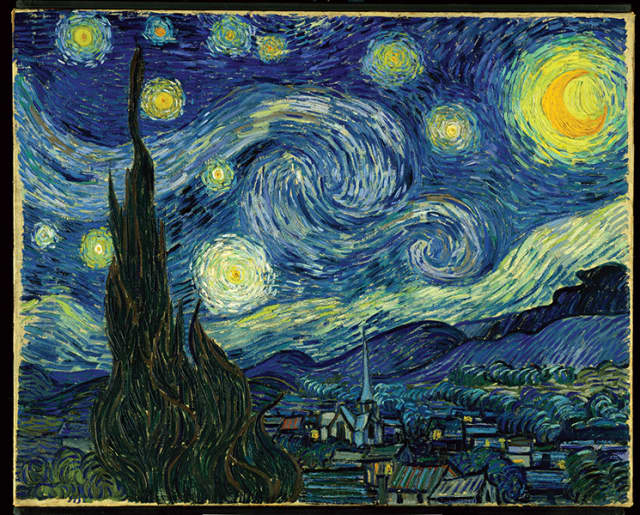 "Vincent van Gogh's ""The Starry Night"" (1889), oil on canvas. The Museum of Modern Art."