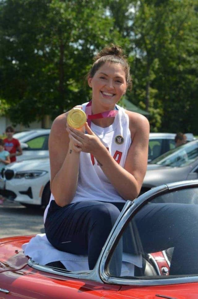 Stefanie Dolson was welcomed back by the Greenville community and State Police officers, New York State Police said on Tuesday, Aug. 3.