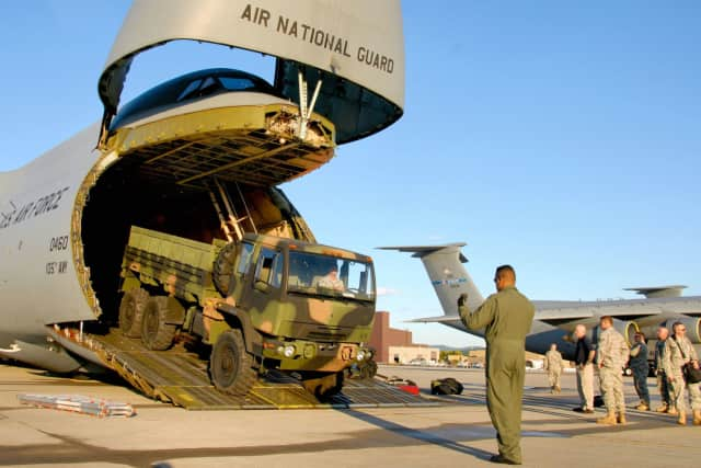National Guard members will depart from Stewart Air Base in Newburgh for training in Louisiana.