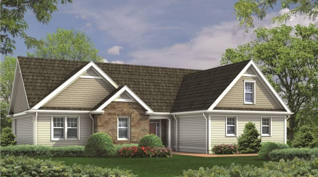 An artist's rendering of a Stone Hollow home.