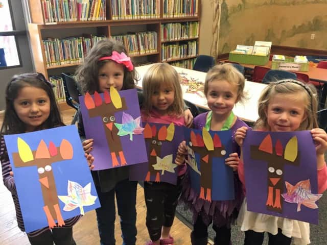Story time at Beekman Public Library on Tuesday morning.