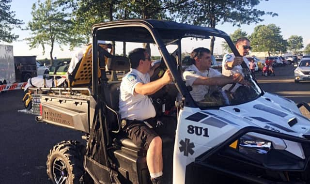 Stratford EMS' utility task vehicle is new, but it has already been put to work.