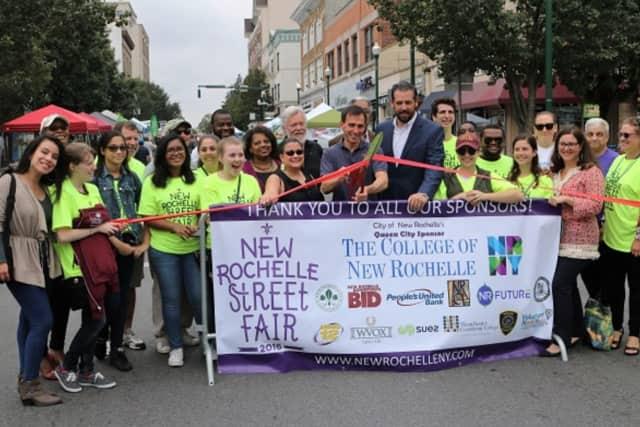 Sunday's New Rochelle Street Fair drew thousands.