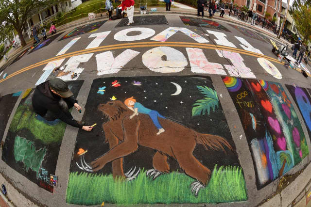Tivoli is hosting its annual street painting day.