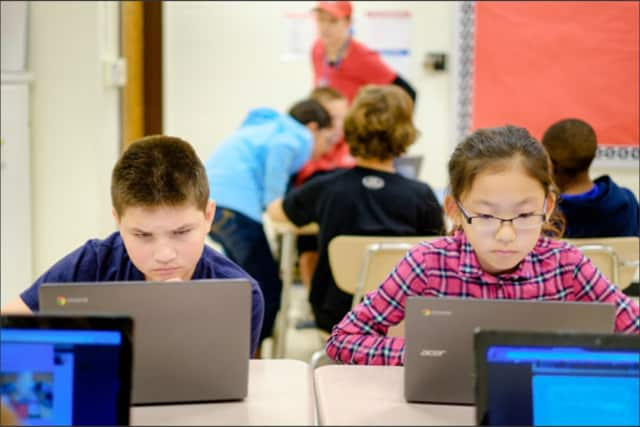 New Chromebook laptops have proved to be a big hit in Allendale's middle school, but educators want to know how they're being used.