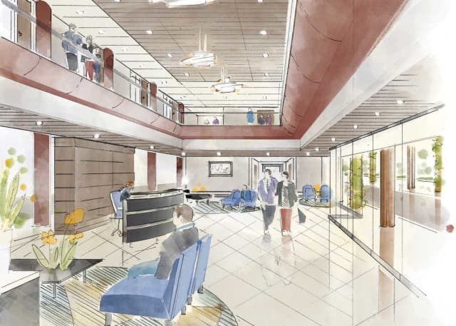 A sketch of a proposed space in the new Summit at Danbury.
