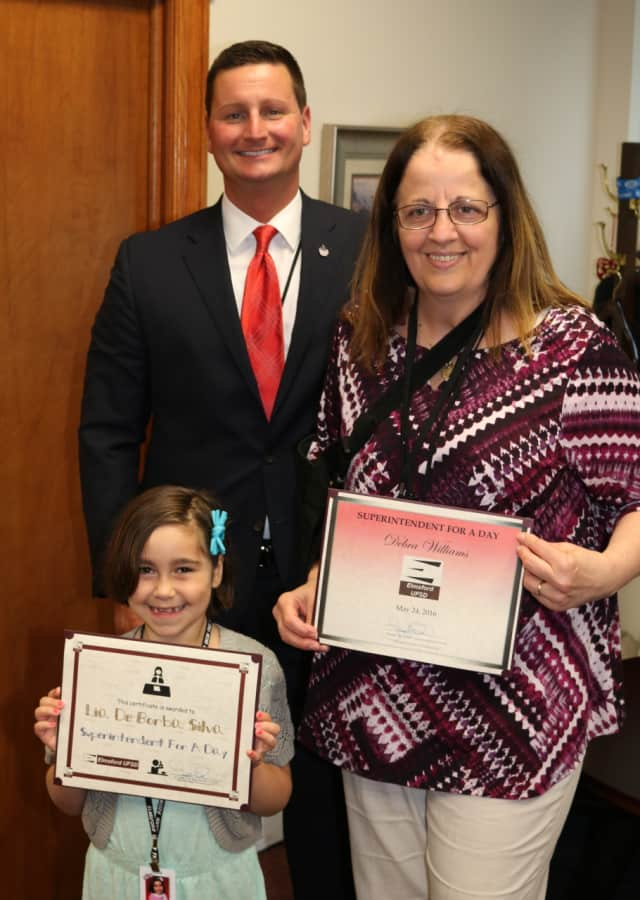 The first lady, first grader and superintendent.