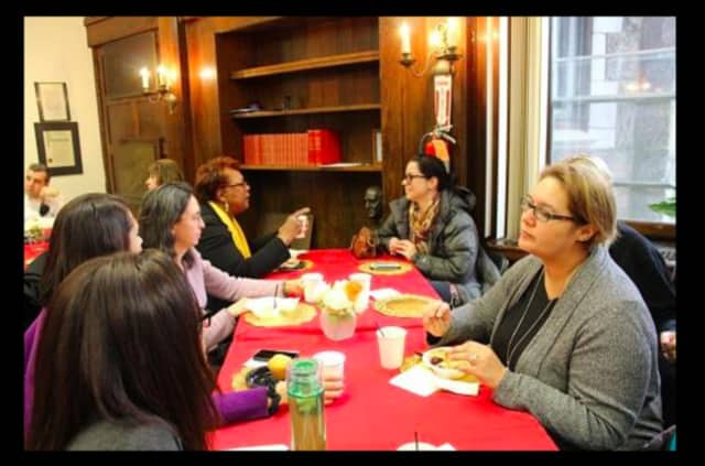 This was the second superintendent's tea held by Greenburgh Superintendent of Schools Tahira Dupree Chase.