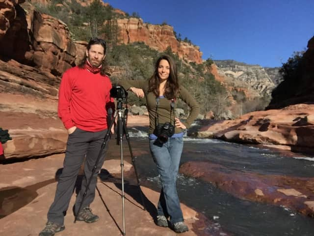 Michael Malandra and Susan Magnano in Sedona, Arizona.