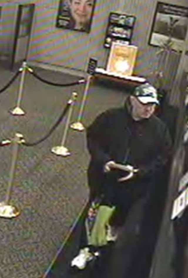 The suspect in the robbery of the Atlantic Bank located at 2320 Central Park Ave. in Yonkers.