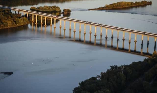 The Susquehanna River Bridge.
