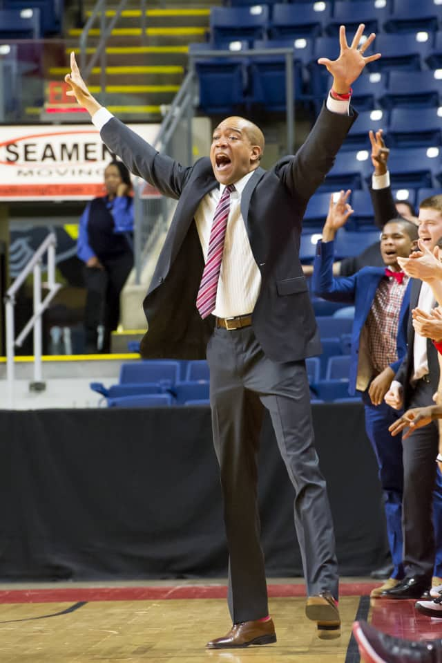 Fairfield University Men's Basketball Coach Sydney Johnson is hoping the Stags can hit a lot of 3-pointers between now and March 4 to raise money for cancer research programs.
