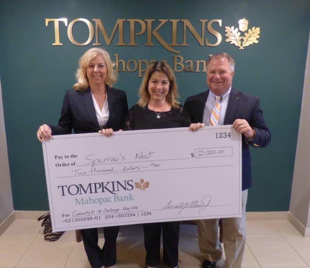 Tompkins Mahopac Bank is launching its second community minute challenge. Sparrow's Nest was the first winner