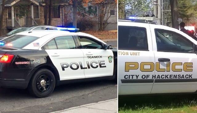 Teaneck, Hackensack police.