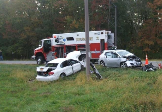A Yorktown man was killed during a three-vehicle crash on the Taconic in East Fishkill.