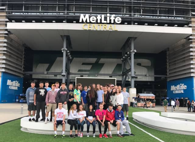 Tappan Zee High School students from the Entertainment and Sports Marketing classes were at MetLife Stadium for the annual Sports Business Day on Oct. 20.