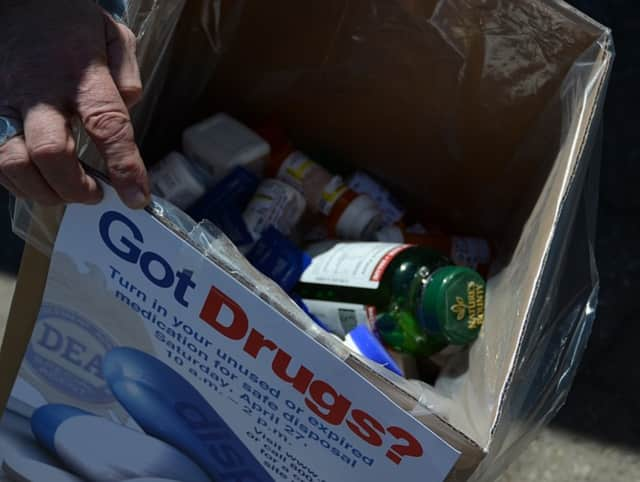 A total of 59.5 pounds of unwanted/unused medications were collected in Ridgefield on Saturday, April 30, during National Prescription Drug Take Back Day.