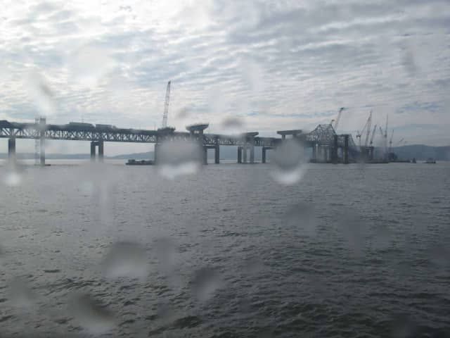 This is an Oct. 13 look at the Tappan Zee Bridge reconstruction project.