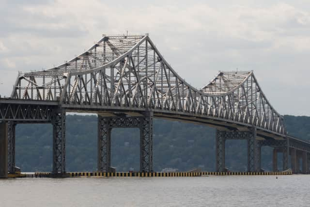 The Tappan Zee Bridge on the Hudson River near the Nyack Waterfront, which was recently approved for taller buildings.