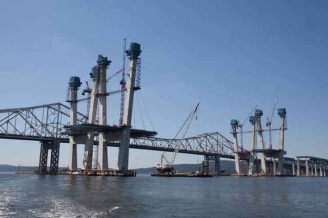 The Tappan Zee Bridge project has marked a milestone with the completion of two of the new span's westbound main towers