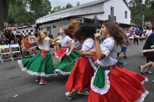 South Orangetown students dance the Neapolitan Tarantella at the Rockland Italian Feast in Tappan.