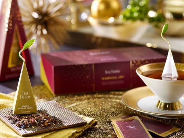 Time for Tea Forté's Warming Joy blends. Courtesy Tea Forté.