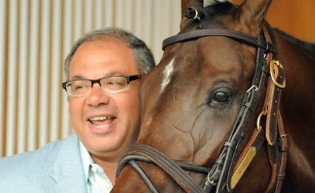 Triple Crown-winning horse American Pharoah and his owner, Ahmed Zayat.
