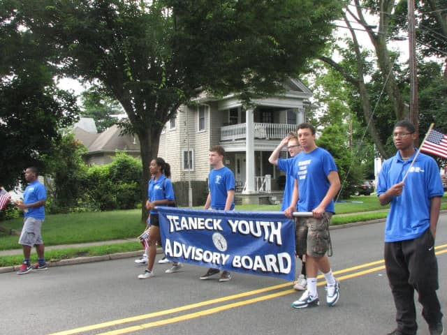 Last year's Teaneck Youth Advisory Board marching in the Fourth of July parade. The Township Council is seeking volunteers for this year's board.