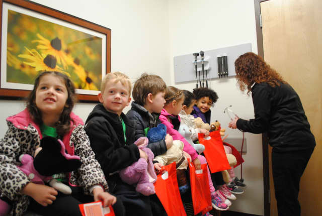 Children from the Pied Piper preschool recently took their teddy bears to the AFC Urgent Care to receive treatment during the Ted E. Bear Fair.