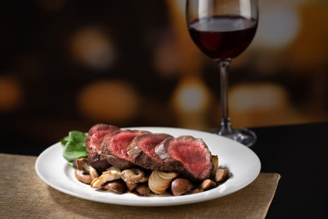 """The Capital Grille is known for its steaks, which are dry aged in-house for a minimum of 18 days to achieve """"incomparable flavor and tenderness."""""""