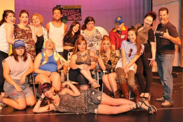 Cast of The Great American Trailer Park Musical, Old Library Theatre Company, Fair Lawn.