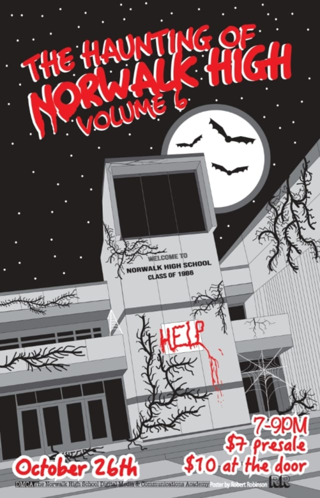 """The Haunting of Norwalk High: Volume 6"" will take place at Norwalk High School on Saturday, Oct. 26 from 7 to 9 p.m."
