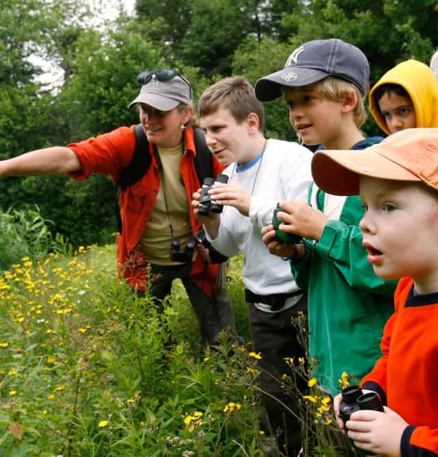 The Lewisboro Land Trust will lead kids on a hike in September.