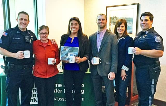 """As part of another community initiative, the Orient Way branch hosted the Rutherford Police Department's """"Coffee with a Cop"""" event on Oct. 7."""