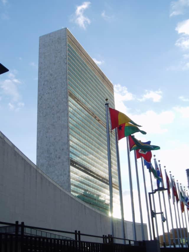 United Nations headquarters in Manhattan.