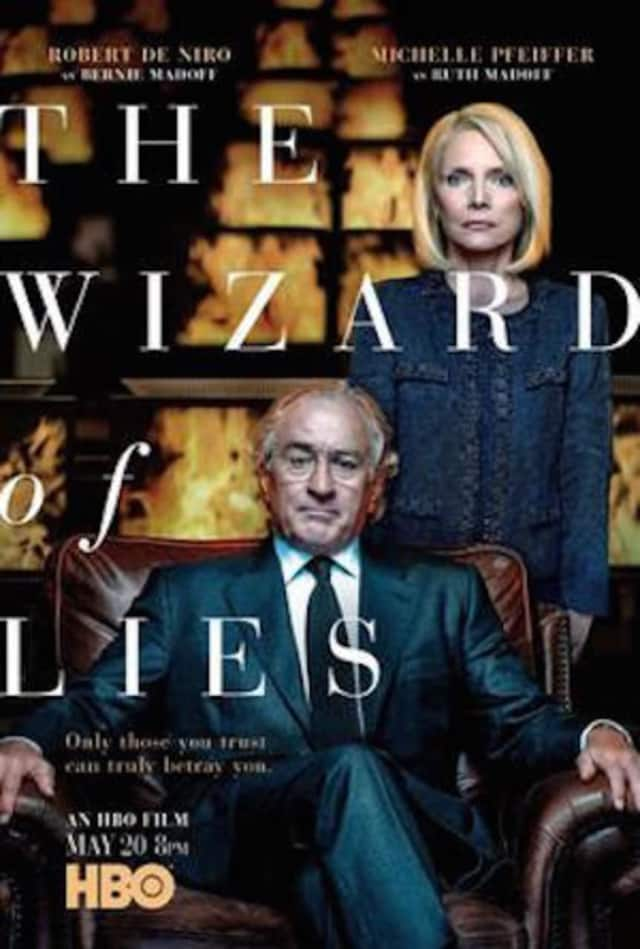 "Michelle Pfeiffer plays Ruth Madoff in the HBO film ""The Wizard of Lies,"" and Robert De Niro stars as Bernie Madoff."