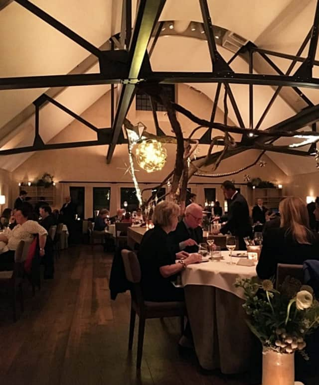 The main dining room of Blue Hill at Stone Barns is a former dairy barn.