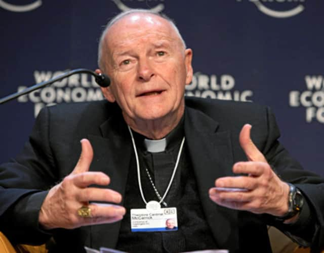 "Retired Archbishop of Washington, Cardinal Theodore McCarrick, formerly the Archbishop of Newark, is stepping out of the ministry after allegations of sexual abuse were found ""credible and substantiated."""