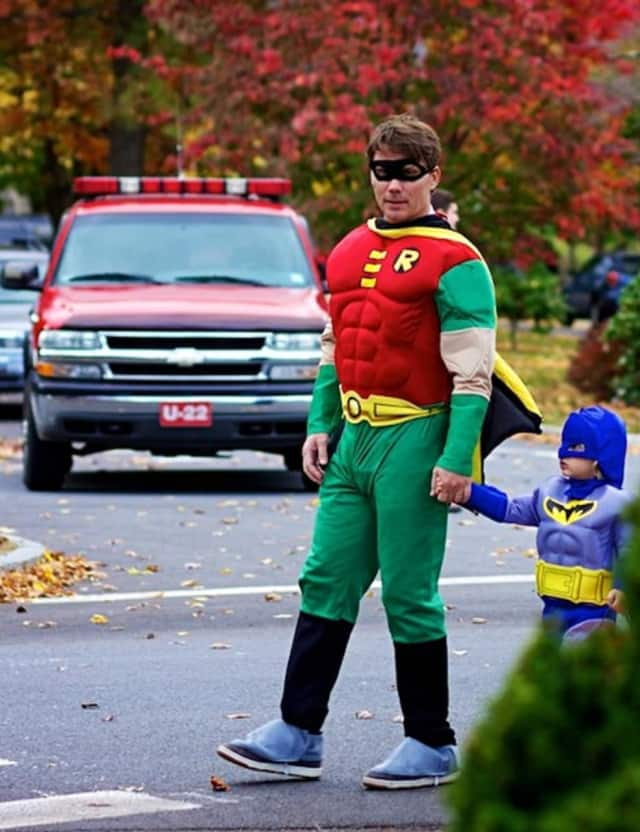 These local superheroes participated in the Katonah Halloween Parade a few years ago.