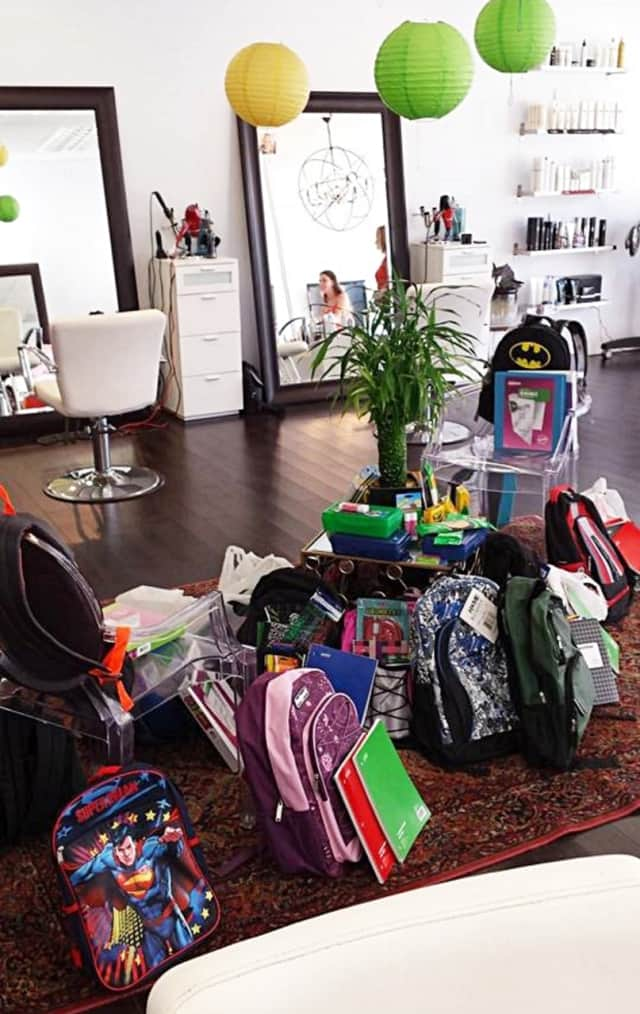 These were the items Salon 421, of Scarsdale, donated to this backpack drive last year.