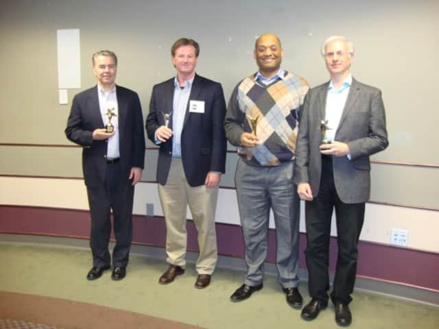(from left) John Engeman, Mark Warrington, Henry Pruitt and Jim Tosone