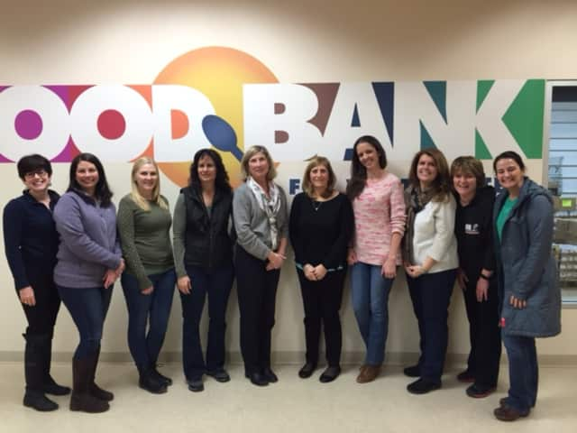 Faculty and staff members at Todd Elementary School in Briarcliff Manor continued the tradition of volunteering at the Food Bank for Westchester.