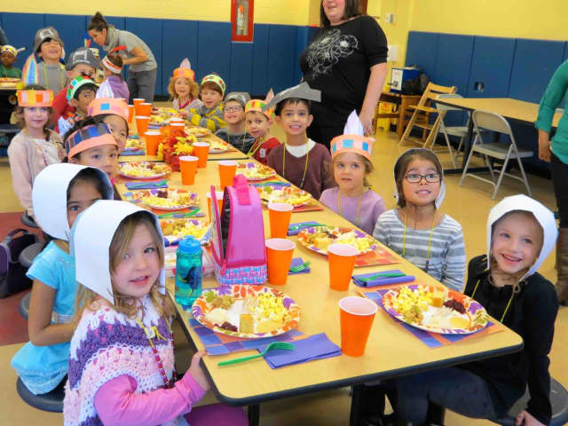 Kindergartners celebrated Thanksgiving at Todd Elementary.
